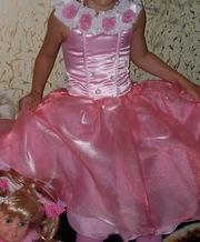 Продам нарядное платье на девочку  5-6лет